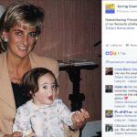 Księżna Diana z chrześniaczką